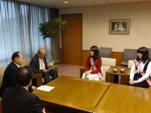 蜂須賀市議会議長さんと田口副議長さんを訪問