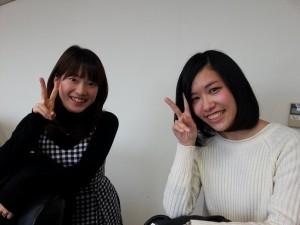 2011観光大使の星野治香さんと杉本咲さん♡「先輩たち、後輩たちと楽しい時間が過ごせました♡」