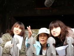 ほんとにまっすぐ先に見えるんですね!観光ガイドの後藤さんの素晴らしい案内で、ますます歴史への興味がわいてきましたっ!