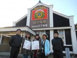 ご案内ありがとうございました!カクキューさんの野村さんと早川さんとガイドの後藤さんと記念撮影✩(おみやげもありがとうございました♡)