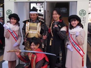 葵武将隊さんも出発式に駆けつけていらっしゃいました!